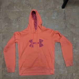 Peach women's under armour Hoodie Sweatshirt s Med